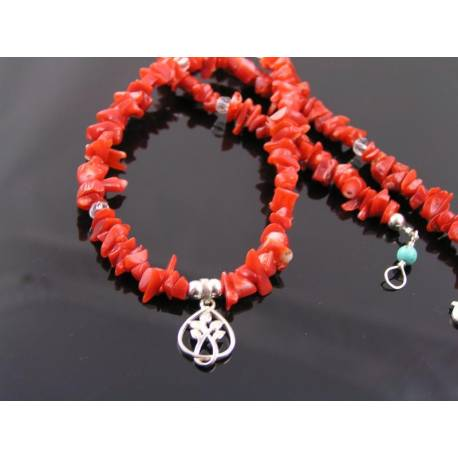 Natural Mediterranean Coral Necklace, Rare Un-Dyed Coral