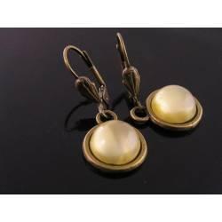 Yellow Givre Glass Earrings