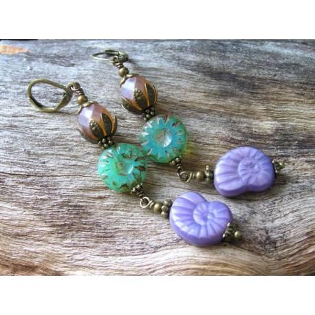 Earrings with Fabulous Czech Glass Beads