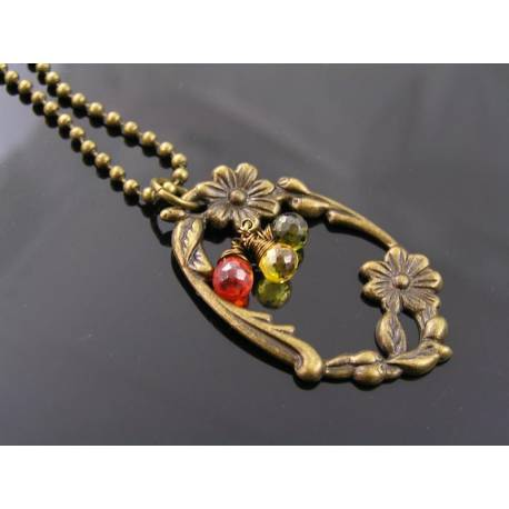 Flower Necklace with Cubic Zirconia
