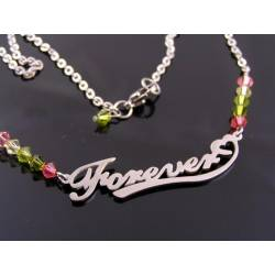 Forever Necklace with Crystals