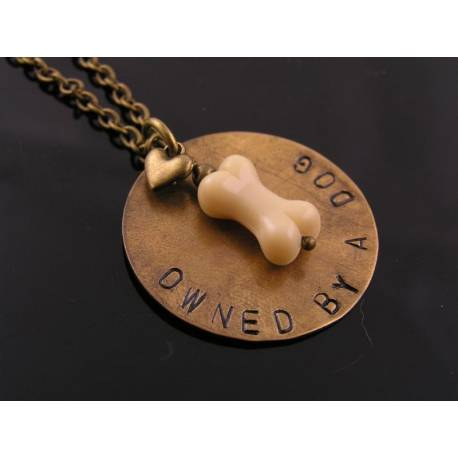 """Owned by a Dog' Dog Lover Necklace"