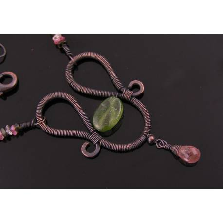 Wire Wrapped Tourmaline Necklace