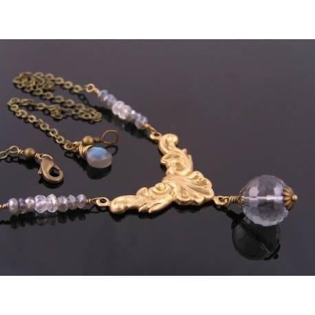 Mystic Quartz and Labradorite Necklace