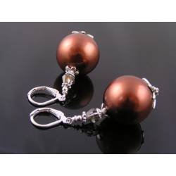 Extra Large Bronze Pearl Earrings
