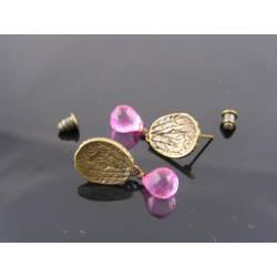 Mystic Pink Quartz Ear Studs