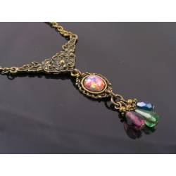 Old Fashioned Opal Necklace
