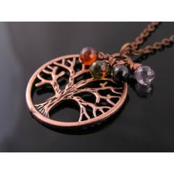 Antique Copper Tree of Life Necklace