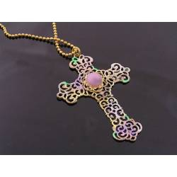 Cross Necklace with Filigree Pendant