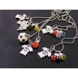 Patriotic Soccer Necklace