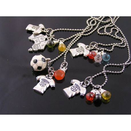Patriotic Soccer Necklace