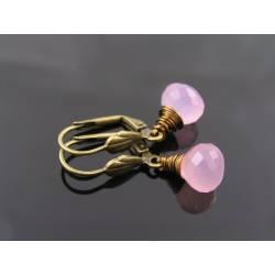 Lavender Chalcedony Earrings