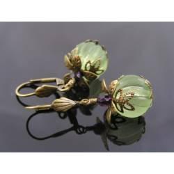 Green Lucite Earrings