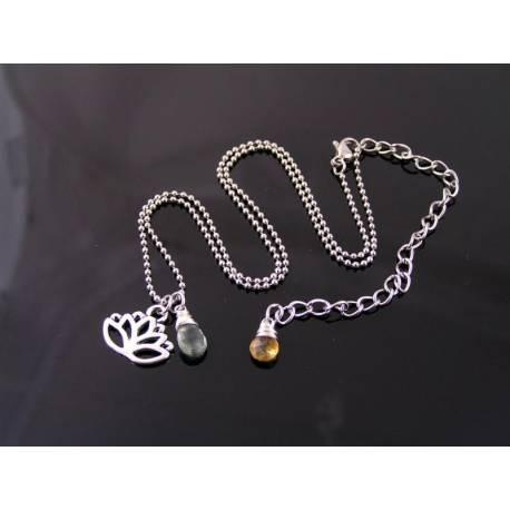 Custom Birthstone Necklace, Your Hobby, Profession, Sport Charm