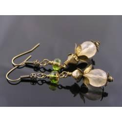 Shabby Chic Ivory Leaves Earrings