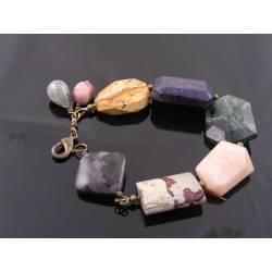 Chunky Bohemian Gemstone Bracelet