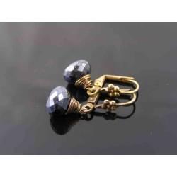 Mystic Black Spinel Earrings