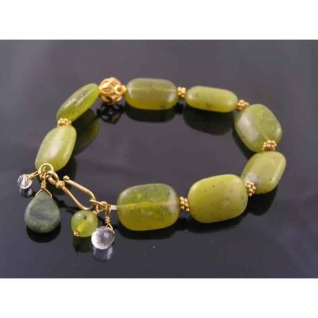 Olive Quartz Vermeil Bracelet