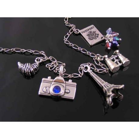 Travel to Paris Charm Necklace
