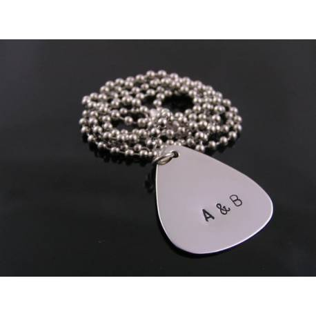 Guitar Pick, Personalised Pendant Necklace