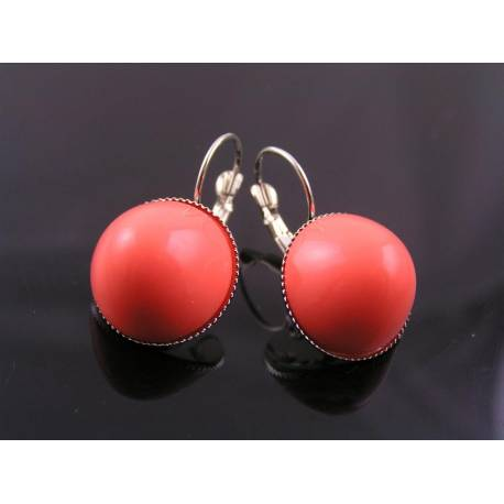 Coral Earrings, Retro Style