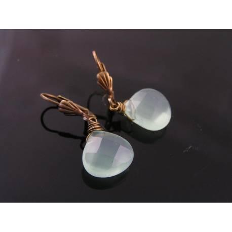 Mint Green Chalcedony Earrings