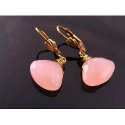 Peach Chalcedony Earrings