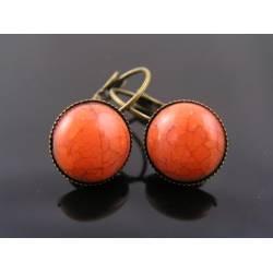 Orange Earrings, Cuff Style