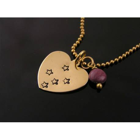 Southern Cross Constallation and Mookaite Necklace