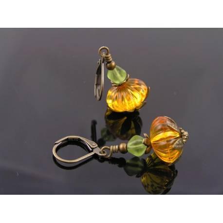 Pumpkin Earrings, Halloween Jewelry