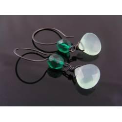 Beaded Green Earrings