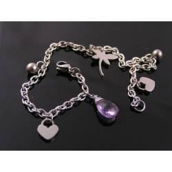Birthstone Bracelet, Charm Bracelet, Durable Stainless Steel