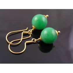 Tsavorite Garnet Vermeil Earrings