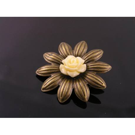 Ivory Flower Brooch