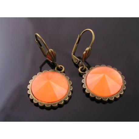 Bright Orange Acrylic Earrings