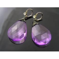 Purple Earrings, Light Weight Acrylic