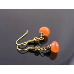 Wire Wrapped Carnelian Earrings