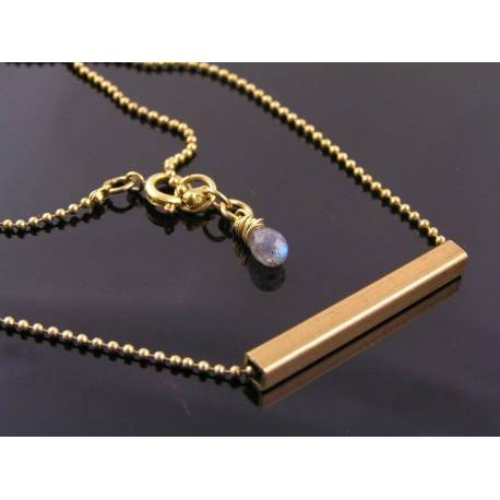 Industrial Necklace with Labradorite