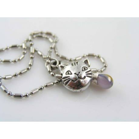 Cat Bead Choker, Cat Necklace
