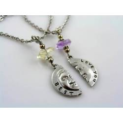 Love You Best - Necklaces with Matching Pendants and Gemstones
