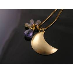 Crescent Moon with Iolite and Labradorite