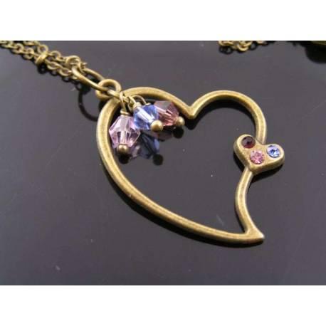 Crystal Set Heart Necklace
