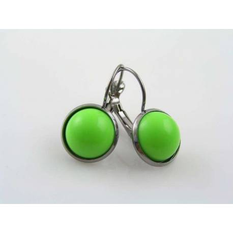 Apple Green Gunmetal Earrings