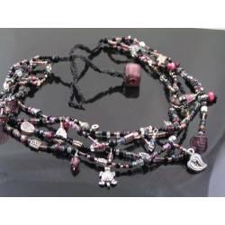 Macramé Woven Bead Necklace