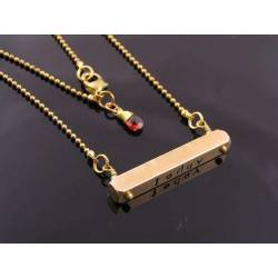 Today, Tomorrow, Forever Necklace, Personlised