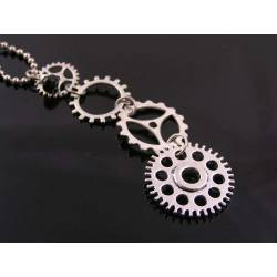 Gear Wheel or Cog Necklace