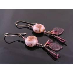 Opulent Lampwork Charm Earrings