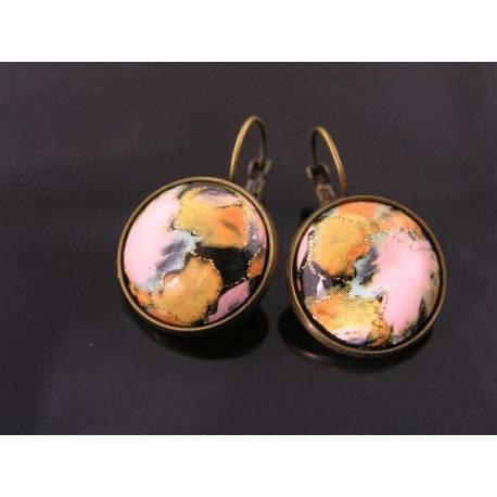 Baroque Cabochon Sleeper Earrings