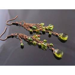 Olive Green Tassel Earrings