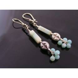 Larimar Earrings, Sterling Silver